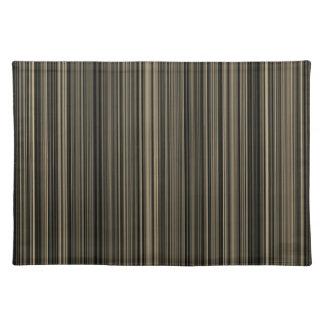 Brown Beige taupe retro stripe place mat