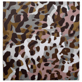 Brown Black Grey Abstract Cheetah Napkin