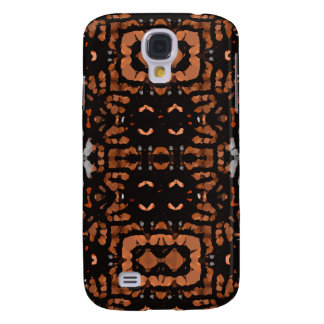 Brown Black Grey Abstract Pattern Galaxy S4 Case