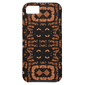 Brown Black Grey Abstract Pattern iPhone 5 Cases