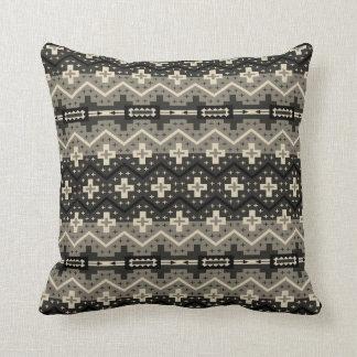 Brown & Black Southwestern Design Pillow