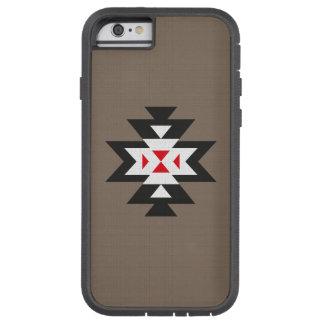 Brown Black White Red Aztec Navajo Pattern Tough Xtreme iPhone 6 Case