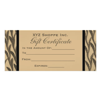 brown branches Gift Certificate Rack Card