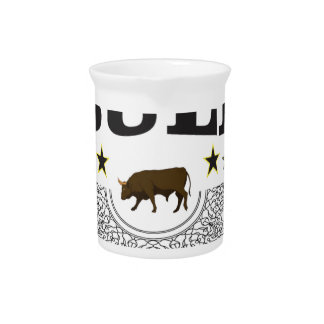 brown bull label pitcher