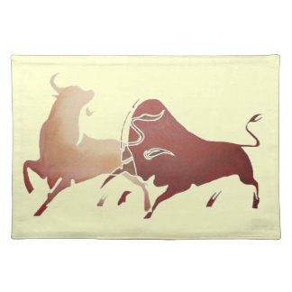 Brown Bullfight PNG Placemat