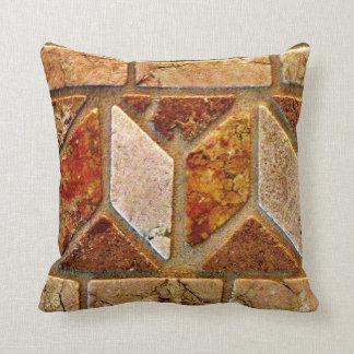 Brown Burnt Orange Tile Southwestern Tile Design T Cushion