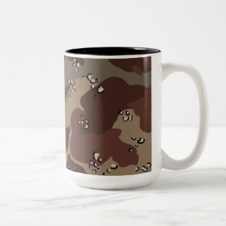Brown Camo Two-Tone Mug