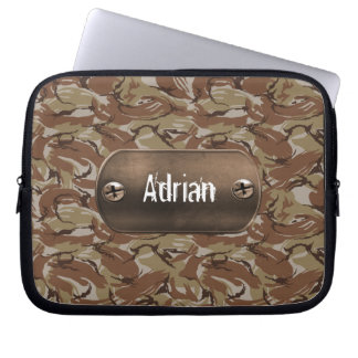 brown  camouflage army laptop sleeve