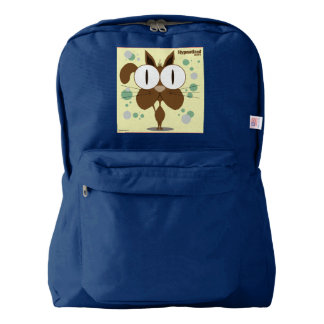 Brown Cat Backpack, Navy Backpack