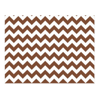 Brown Chevron Zig-Zag Pattern Postcard