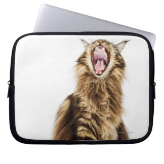 Brown Classic Main Coon Tabby Laptop Sleeve