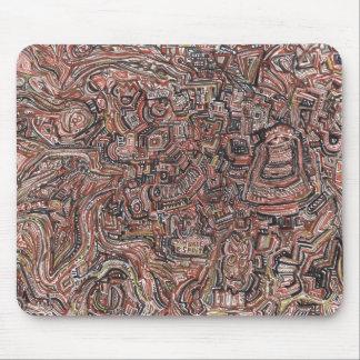 brown cross tapis de souris