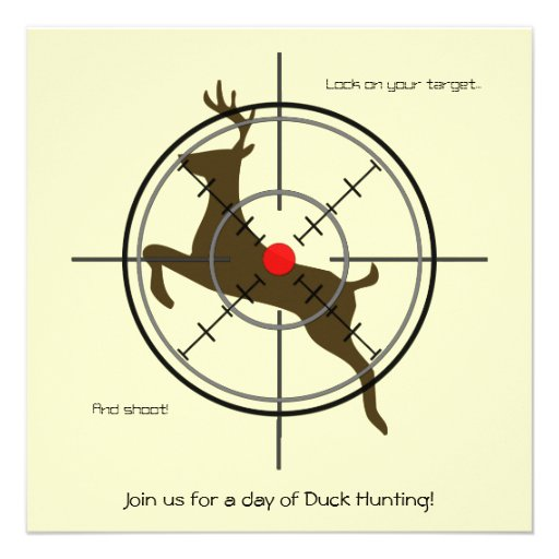 Brown Deer Hunting Invitations (add your texts)
