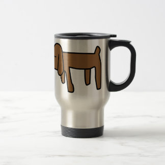 Brown Dog Stainless Steel Travel Mug