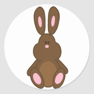 Brown Easter Bunny Stickers