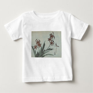 Brown Flowers Baby T-Shirt