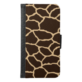 Brown Giraffe Print Galaxy S6 Wallet Case