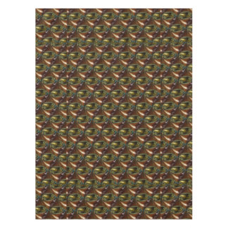 Brown Glass Abstract Fractal Tablecloth