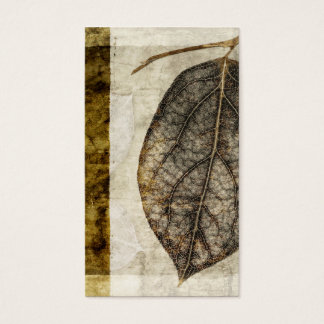 Brown Gold Fall Leaves Business Card