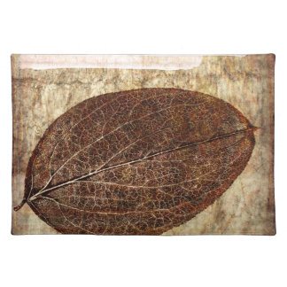 Brown Gold Fall Leaves Placemat