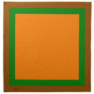 Brown Green and Orange Napkins