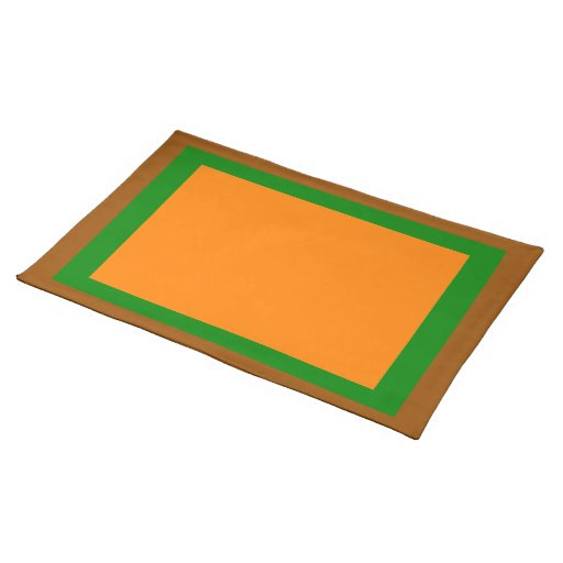 Brown Green and Orange Placemat
