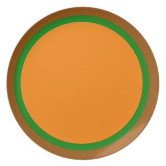 Brown Green and Orange Plate