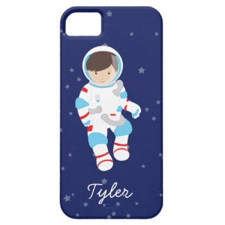 Brown Hair Astronaut in Space iPhone 5 Cases