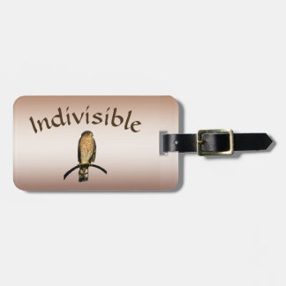 Brown Hawk Indivisible Luggage Tag