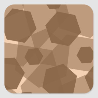 Brown Hex Square Sticker
