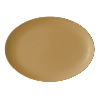 Brown Honey Solid Colour Porcelain Serving Platter