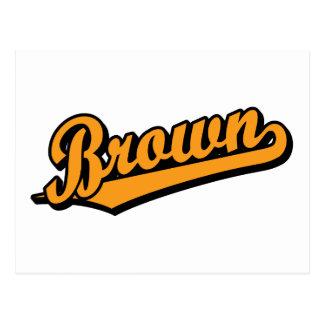 Brown in Orange Post Card