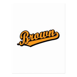Brown in Orange Postcard