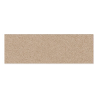 Brown Kraft Paper Background Printed Double-Sided Mini Business Cards (Pack Of 20)