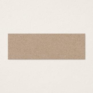Brown Kraft Paper Background Printed Mini Business Card