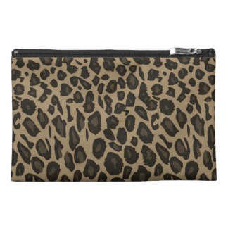 Brown Leopard Print Travel Accessories Bags