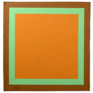 Brown Light Green and Orange Napkins