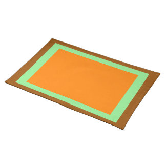 Brown Light Green and Orange Placemat