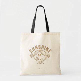 Brown Little Miss Sunshine Tote Bag