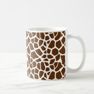 Brown Mint Giraffe Print Coffee Mug
