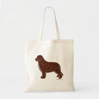 Brown Newfoundland Dog Tote Bag