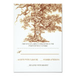brown old tree rustic wedding RSVP cards Personalized Invite