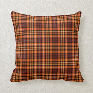 Brown, Orange and Yellow Plaid Cushion