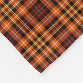 Brown, Orange and Yellow Plaid Fleece Blanket