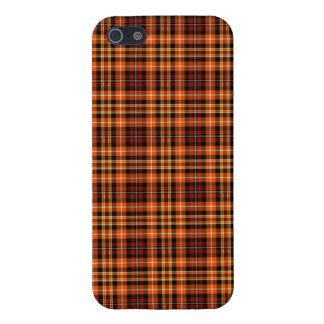Brown, Orange and Yellow Plaid iPhone 5 Cover