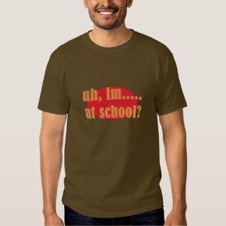 brown orange and yellow short sleeve statement tshirt