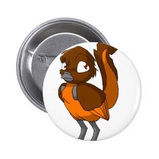 Brown Orange Reptilian Bird Botton Pinback Button