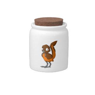 Brown/Orange Reptilian Bird Cookie Jar Candy Jars