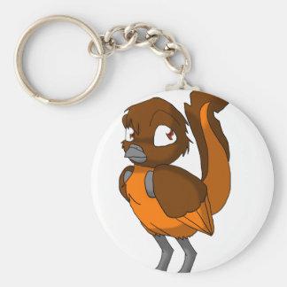 Brown/Orange Reptilian Bird Keychain