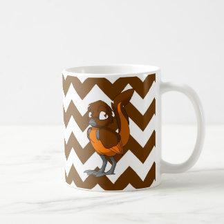 Brown/Orange Reptilian Bird w/ Chevron Back 1 Mug